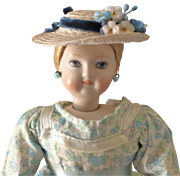 "French Fashion ~ Simon & Halbig 1160 ~ Tiny Hat or Bonnet ~ Artist Made ~ 4-1/2""- 5"" Head"