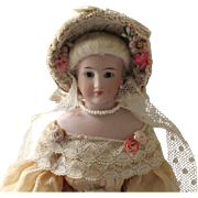"""French Fashion ~ Simon & Halbig 1160 ~ Cottage Bonnet ~ Artist Made ~ for 4-1/2"""" Head"""