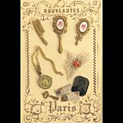 French Fashion Accessory ~ Artist Made ~ Presentation Display Card