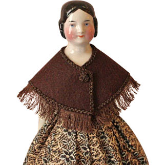 """Wool Shoulder Cape ~ Artist Made ~ for 12-13"""" French Fashion or China Doll"""