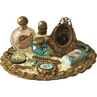 """French Fashion Accessory ~ Dressing Table Tray ~ Artist Made ~ 16"""" - 20"""" Dolls"""