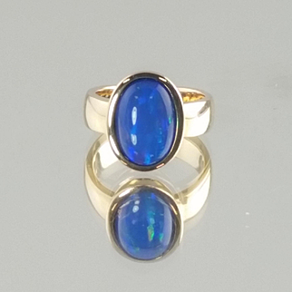 Ethiopian Opal Ring set in 14k Yellow Gold