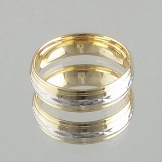 Men's Wedding Band / 18k Yellow Gold and Platinum