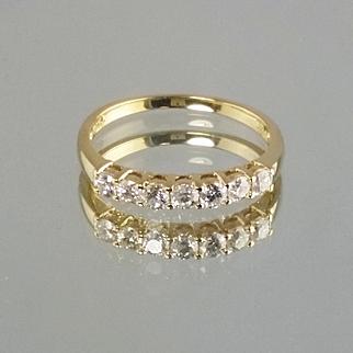 Diamond Anniversary Ring / 14k Yellow Gold