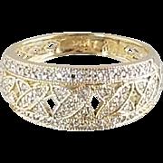 1990's Diamond Pave Ring / 14k Yellow Gold