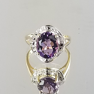 Amethyst Ring / 14k Yellow Gold