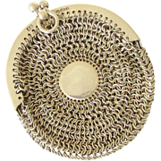 Sterling Silver Mesh Chain Coin Purse Chatelaine 1918 England Chain Maille