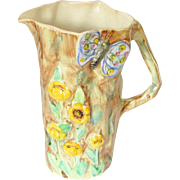 Radford Butterfly Vase Jug Vintage England Pottery 1930s Majolica