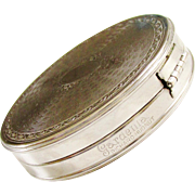Vintage Richard Hudnut Gardenia Powder Compact Silver 1920s signed