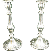 Gorham Sterling Silver Candlesticks Chantilly Duchess circa:  1930's