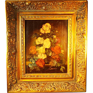 Vintage Oil Painting on board by Garossa