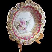 Antique Floral Scalloped Bowl