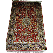 Antique Hereke Silk Rug 4' x 6'