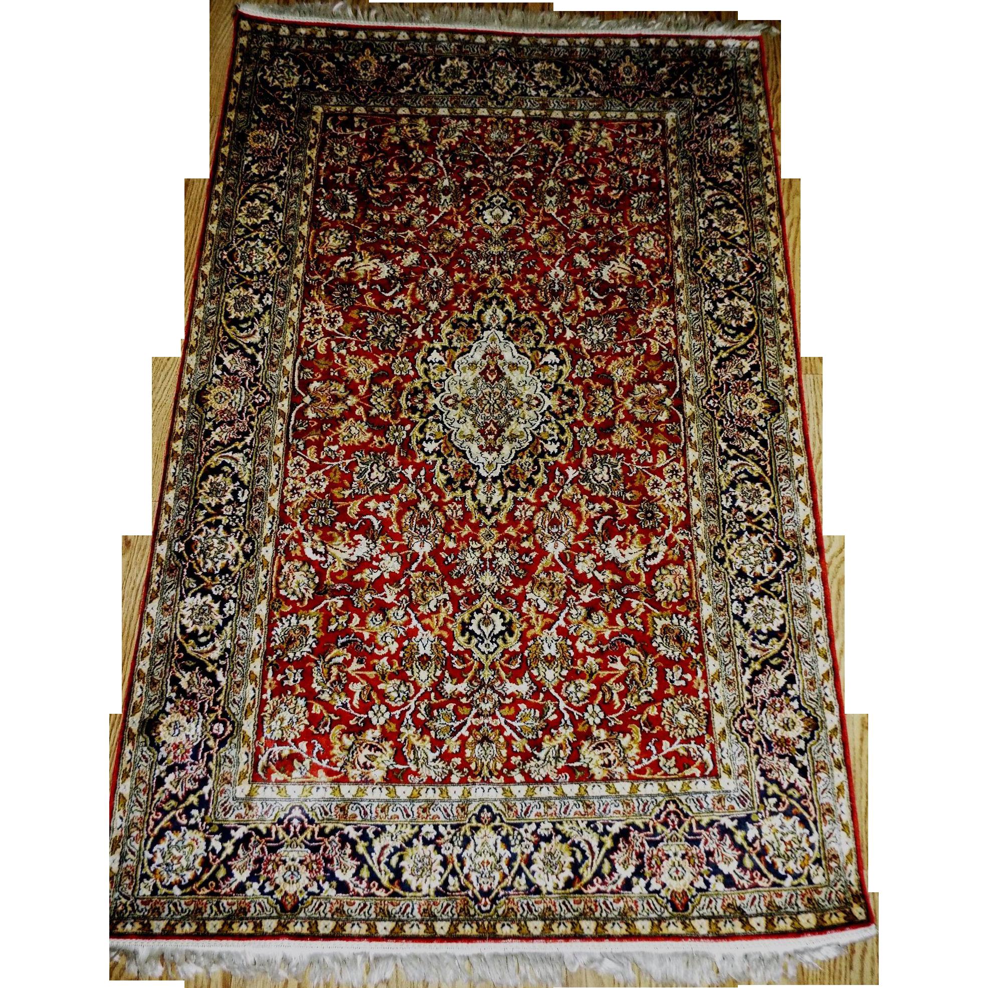 Hereke Silk Rug Youtube: Antique Hereke Super Fine Silk Rug 4' X 6' Hand Made