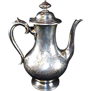 Antique Sterling Silver Coffee Pot  circa:  1861