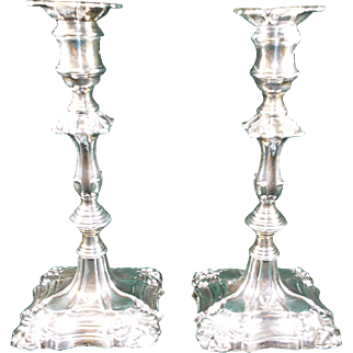 Antique Sterling Silver Candlesticks Candle holders 19th Century