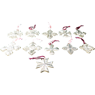 Sterling Silver Cross Ornaments Pendants by Reed & Barton (Lot of 11)