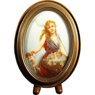 Lady with Fairies Oil Painting on Porcelain