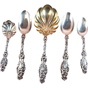 Sterling Silver Set of 5 Serving Pieces Lily by Whiting 1902