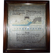 Antique Sampler titled Extract dated 1817 Religious origin