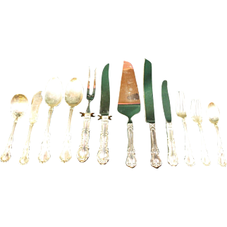 Sterling Silver Flatware Old Atlanta by Wallace service for 12 eight Serving Pieces