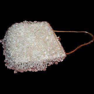 Beautiful vintage mid-century beaded handbag