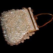 Stunning vintage mid-century beaded handbag/purse