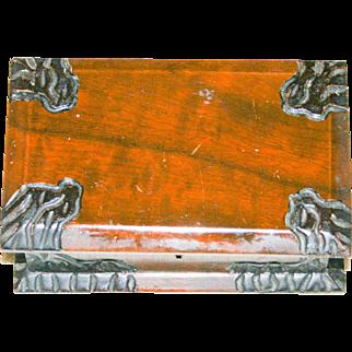 wooden trinket/jewelry box from Brazil