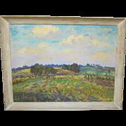 Framed Impressionist Landscape by Hugh Campbell.