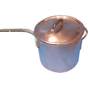"""Duparquet / DH & M Co. 14.5"""" Diameter Copper Pot."""