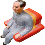 People's Republic of China -Porcelain Statue of Seated Mao Tse-Tung.