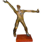 Bronze Sculpture of Abstract Nude Male Figure