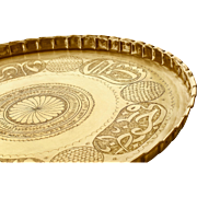 1930´s Lebanon Hammered Brass Calligraphic Tray