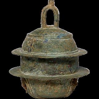 Medieval Bronze Elephant Bell, East Java, Indonesia