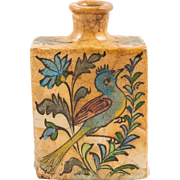 Islamic Antique Qajar Ceramic Bottle or Vase, 19th Century