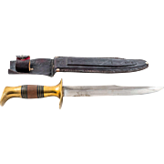 Libyan Tuareg Knife, Special Steel Blade, Brass-Rosewood Handle
