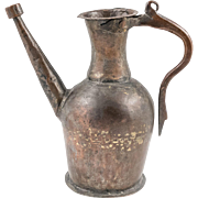 Antique Ottoman Tinned Copper Ewer, 19th century