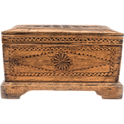 Kurdish Wooden Jewelry Box from Turkey