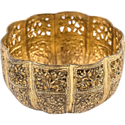 Gilded Copper Bowl from Kashmir, 19th Century