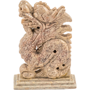 Beige White Chinese Jade Dragon - Luck Symbol for Homes