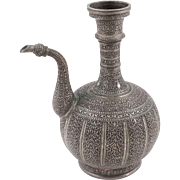 Central Asia, Uzbekistan Antique Tinned Copper Ewer, 19th Century