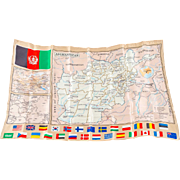 Afghanistan Map for Coalition Troops, Silk-like Polyester
