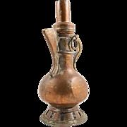 Islamic Qajar Copper Nomad Samovar from 19th Century