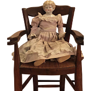 Lovely Blond China Head Doll with the Pet Name Marion, circa 1905