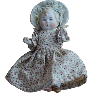 "5"" Limbach All Bisque Doll with Exceptional Face Painting"