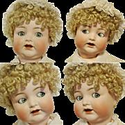 "Peerless 23,5"" Antique German Doll Flirting Blue Eyes Simon & Halbig 156 Character Baby Toddler Body ( A.H.W) Adolf Hulss Waltershausen"