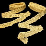 Antique cotton lace