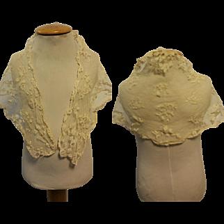 Antique piece French cotton lace