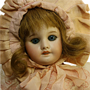 "SFBJ 15,75"" Antique Beautiful Doll 22 S.F.B.J PARIS 60 3/0 Original French Jumeau body"