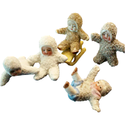Snow baby all bisque vintage Germany 1900